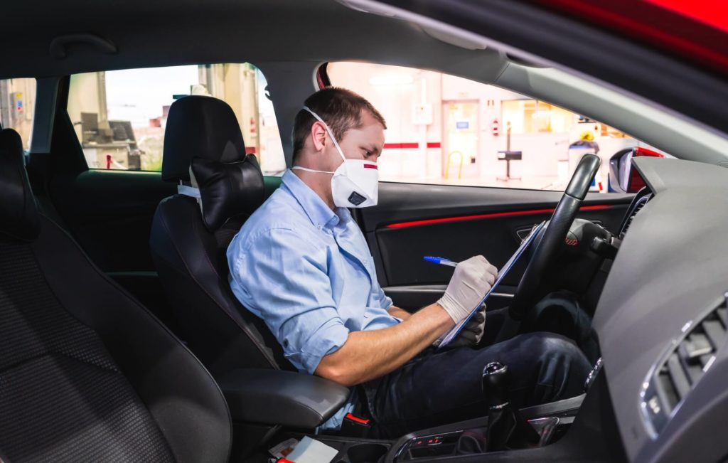 vehicle inspection inside