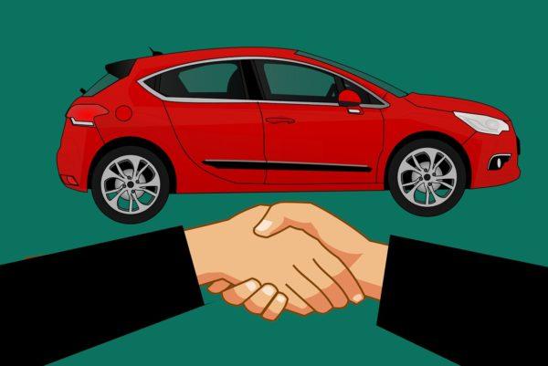 shake hand, buy, car